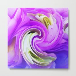308 - Flowers abstract design Metal Print