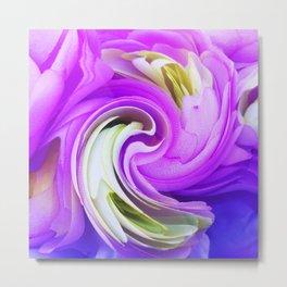 308 - Flowers abstract design Metal Print