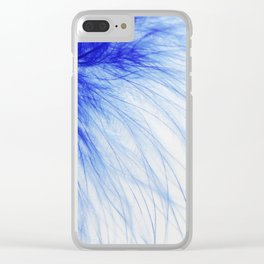 Blue feather Clear iPhone Case