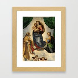 The Sistine Madonna Oil Painting by Raphael Framed Art Print