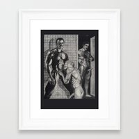 olaf Framed Art Prints featuring Olaf by vooduude