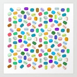 Macaron Pattern Art Print