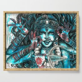 Goddess Kali Serving Tray
