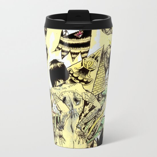 SEARCH & DESTROY. Metal Travel Mug