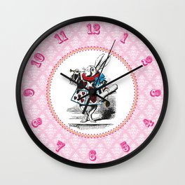 Alice in Wonderland | The Herald of the Court of Hearts (White Rabbit) Wall Clock