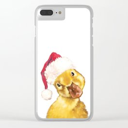 Christmas yellow duckling Clear iPhone Case