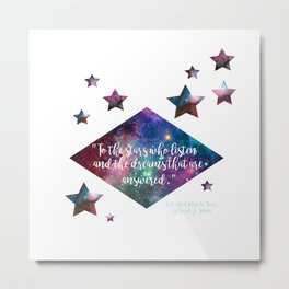 "ACOMAF ""To the stars who listen"" Quote Print Metal Print"