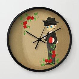 Retro Tuxedo Mask Wall Clock