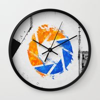 aperture Wall Clocks featuring Aperture Vandal by Toronto Sol