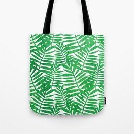Tropical Leaf Print Tote Bag