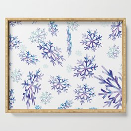 Snowflakes falling Serving Tray