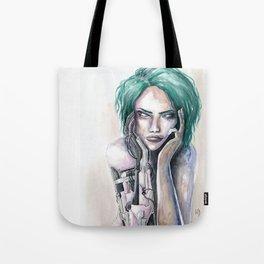 Mechanically Beautiful Watercolor Tote Bag