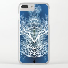 Silhouetted tree pattern Clear iPhone Case