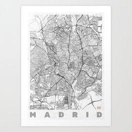 Madrid Map Line Art Print