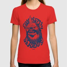 Completely Serious SMALL Red Womens Fitted Tee