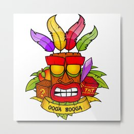 Aku Aku Ooga Booga Metal Print