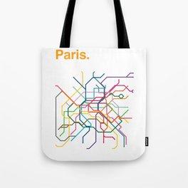 Paris Transit Map Tote Bag
