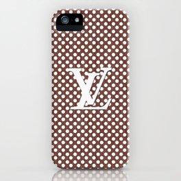 LV Polka Pattern Brown iPhone Case