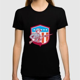 World War One Soldier American Retro Shield T-shirt