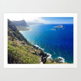 Hawaii Hike Art Print