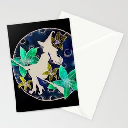 fly to th moon Stationery Cards