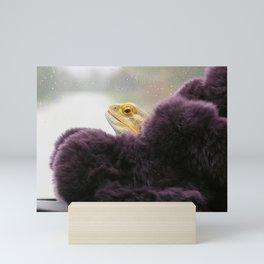 Fur Coat for Saffron Mini Art Print