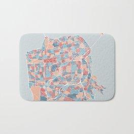 San Francisco modern map Bath Mat