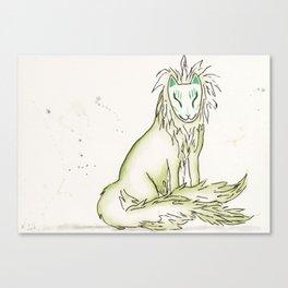 Moss Hidden Kitsune.  Canvas Print