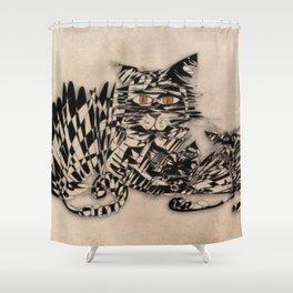3 cats esoflowizm art Shower Curtain
