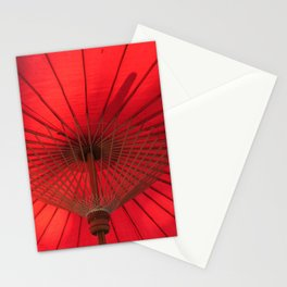Red Parasol Stationery Cards