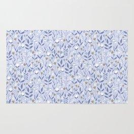 Pastel Purple Ditzy Wild Meadow Floral Print Rug