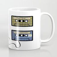tape Mugs featuring tape by Jeffrey Bourgeois