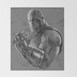 Thanos (Greyscale Sketch #2) Throw Blanket