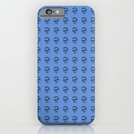Jeff Goldblum Pattern Blue iPhone Case