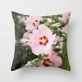 Pink Slips Throw Pillow