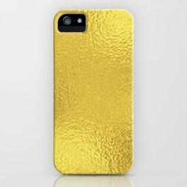 Simply Metallic in Yellow Gold iPhone Case