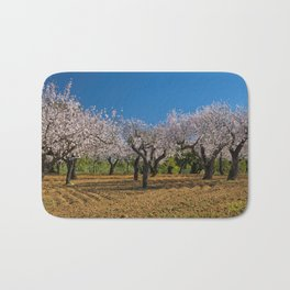 Almond orchard in Portugal Bath Mat