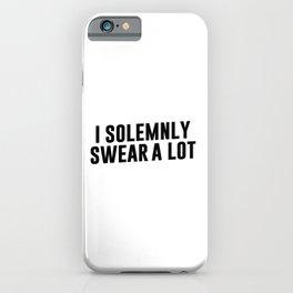Magic cute I Solemnly Swear A Lot iPhone Case