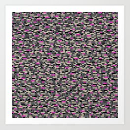Directions Camouflage (Pink/Gray) Art Print