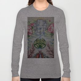 The Toad of Cherry Blossom River Long Sleeve T-shirt