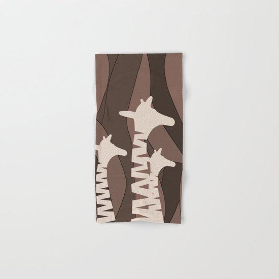 Abstract Giraffe Family Hand & Bath Towel