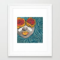 indigo Framed Art Prints featuring Indigo by Stefari