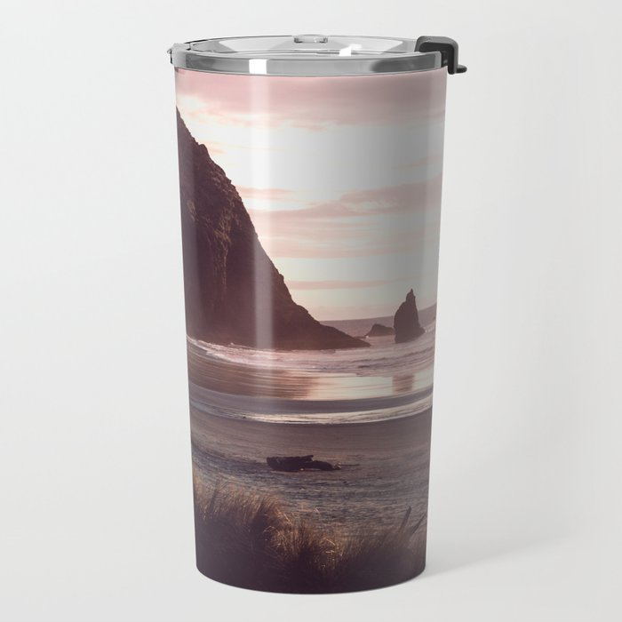 Cannon Beach Sunset Travel Mug