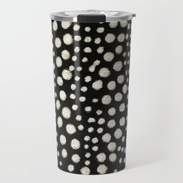 Black and white cercles african weave Travel Mug