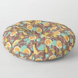 Cozy cat hygge Floor Pillow