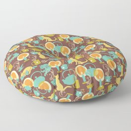 Cozy cat hygge Floor Pillow