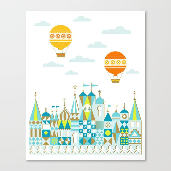 Small Magic white Canvas Print