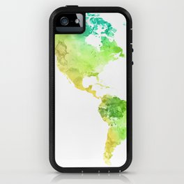 World Map Watercolor #5 iPhone Case