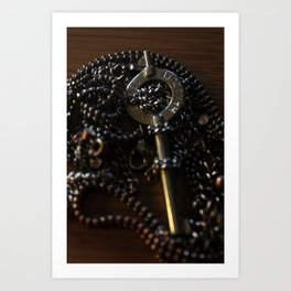 The Key to My Heart is a Handcuff Key Art Print