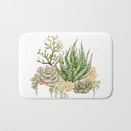 Succulent Bouquet Bath Mat